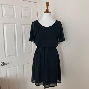🆕Lush black flutter sleeve dress